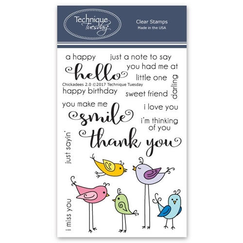 Technique Tuesday CHICKADEES 2.0 Clear Stamps 02594 Preview Image