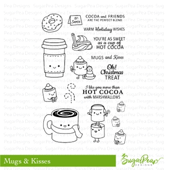 SugarPea Designs MUGS & KISSES Clear Stamp Set SPD-00255