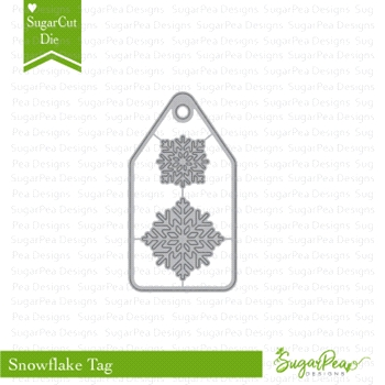 SugarPea Designs SNOWFLAKE TAG SugarCuts Dies SPD-00258