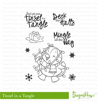 SugarPea Designs TINSEL IN A TANGLE Clear Stamp Set SPD-00259
