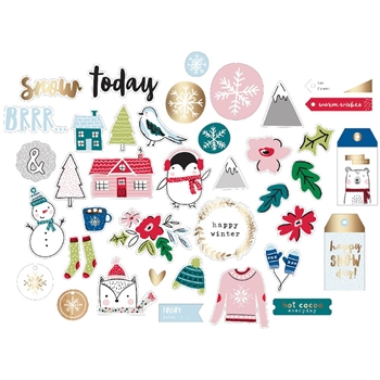 American Crafts SWEATER WEATHER Ephemera Die Cut Shapes 343459
