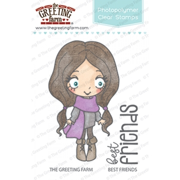 The Greeting Farm BEST FRIENDS Clear Stamps TGF354