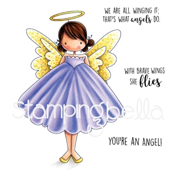 Stamping Bella Cling Stamp TINY TOWNIE ANNIE THE ANGEL Rubber UM EB585