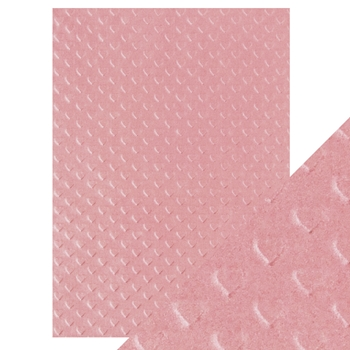 Tonic BLUSH HEARTBEAT Hand Crafted Embossed Cotton A4 Paper Pack 9800e