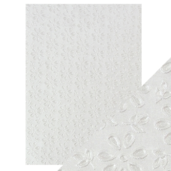 Tonic ENGLISH LACE Hand Crafted Embossed Cotton A4 Paper Pack 9801e
