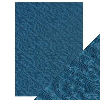 Tonic DEEP SEA DIVE Hand Crafted Embossed Cotton A4 Paper Pack 9806e