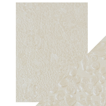Tonic IVORY BOUQUET Hand Crafted Embossed Cotton A4 Paper Pack 9807e