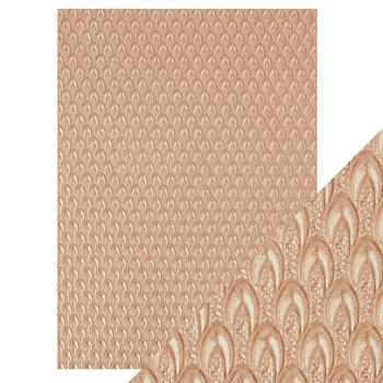 Tonic CHAMPAGNE FOUNTAIN Hand Crafted Embossed Cotton A4 Paper Pack 9808e