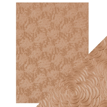 Tonic WARM DAHLIA Hand Crafted Embossed Cotton A4 Paper Pack 9812e