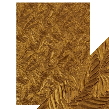 Tonic COPPER FEATHERS Hand Crafted Embossed Cotton A4 Paper Pack 9815e
