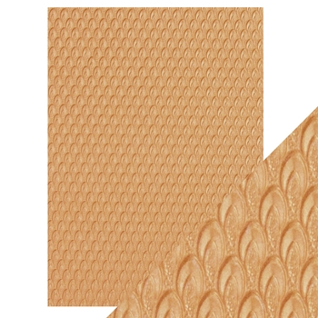 Tonic GOLDEN SCALES Hand Crafted Embossed Cotton A4 Paper Pack 9816e