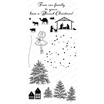 Impression Obsession Clear Stamp SNOW GLOBE ADDITIONS WP820