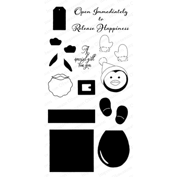 Impression Obsession Clear Stamp PENGUIN GIFT BOX WP818