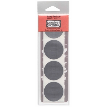 Inky Antics 1.5 INCH CIRCLE Scratch Off Stickers sos107
