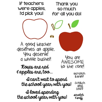 Inky Antics APPLE FOR TEACHER Clear Stamp Set 11377sc