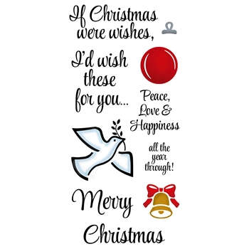 Inky Antics CHRISTMAS WISHES Clear Stamp Set 11387lc