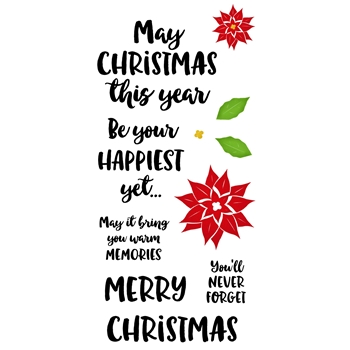 Inky Antics HAPPIEST CHRISTMAS Clear Stamp Set 11386lc