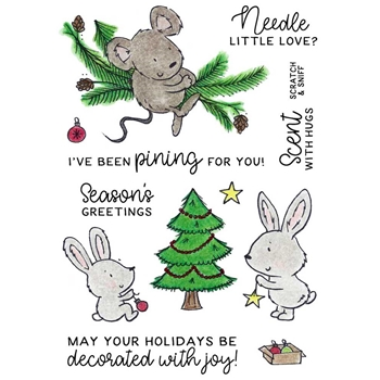 Inky Antics CHRISTMAS PINE CRITTERS Clear Stamp Set 11383mc