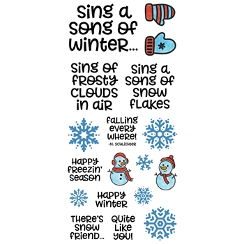 Inky Antics WINTER SONG Clear Stamp Set 11388lc
