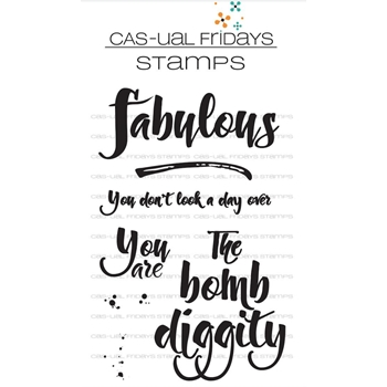 Cas-ual Fridays BOMB DIGGITY Clear Stamps CFS1719
