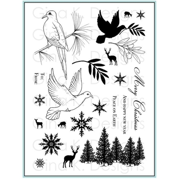 Gina K Designs PEACEFUL HOLIDAY Clear Stamps 9285