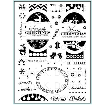 Gina K Designs FABULOUS HOLIDAY LABELS Clear Stamps 9261