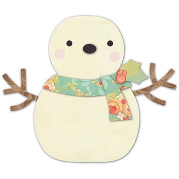 Memory Box CHEERING SNOWMAN Open Studio DEEP EDGE Die 30105