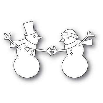 Memory Box DANCING SNOWMEN Open Studio Craft Die Set 30115