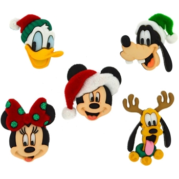 Dress It Up DISNEY HOLIDAY HEADS Button Embellishments 433668