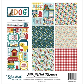 Echo Park DOG 12 x 12 Mini Themes Collection Kit mt9405