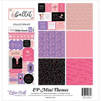 Echo Park BALLET 12 x 12 Mini Themes Collection Kit mt9205