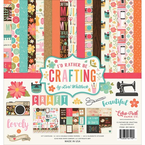 Echo Park I'D RATHER BE CRAFTING 12 x 12 Collection Kit ibc138016 Preview Image