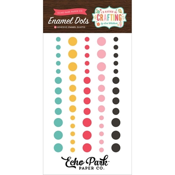Echo Park I'D RATHER BE CRAFTING Enamel Dots ibc138028