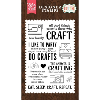 Echo Park EAT SLEEP CRAFT Clear Stamps ibc138042