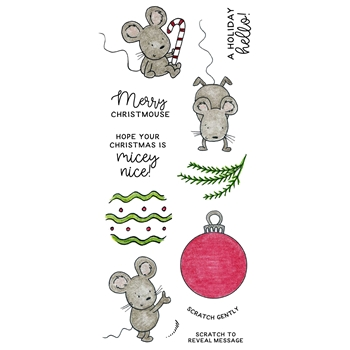 Inky Antics ORNAMENT MICE Clear Stamp Set 11384lc