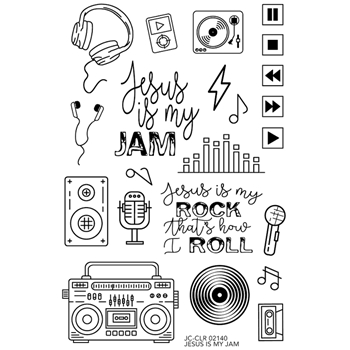 Joy Clair JESUS IS MY JAM Clear Stamp Set clr02140