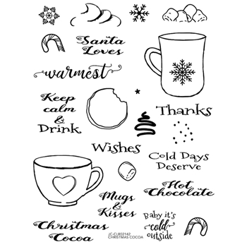 Joy Clair CHRISTMAS COCOA Clear Stamp Set clr02141