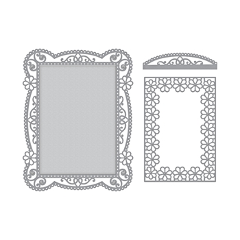 S5-328 Spellbinders TALLULAH FRILL LAYERING FRAME SMALL Etched Dies*