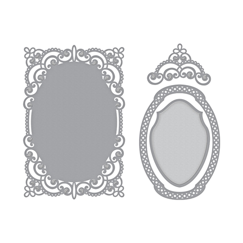 S5-327 Spellbinders ANABELLE'S TROUSSEAU LAYERING FRAME MEDIUM Etched Dies Preview Image