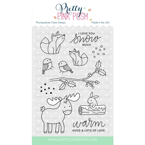 Pretty Pink Posh WINTER WOODLAND Clear Stamp Set Preview Image