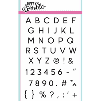 Heffy Doodle JET ALPHABETTERS Clear Stamps hfd0015