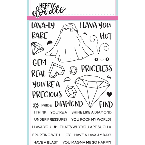 Heffy Doodle GEOLOGY ROCKS Clear Stamps hfd0016 Preview Image