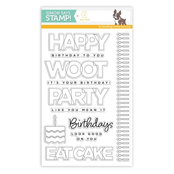CZ Design Clear Stamps BIRTHDAY PALOOZA cz12