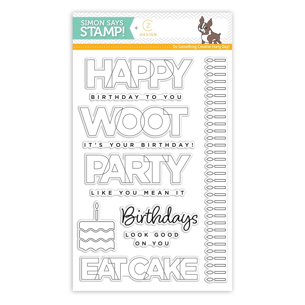 CZ Design Clear Stamps BIRTHDAY PALOOZA cz12 zoom image