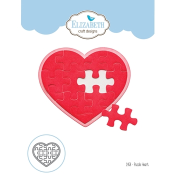 Elizabeth Craft Designs PUZZLE HEART Craft Die 1458