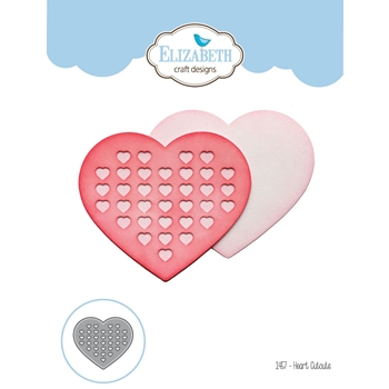 Elizabeth Craft Designs HEART CUTOUTS Craft Die 1457