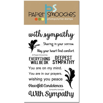 Paper Smooches SYMPATHY SAMPLER Clear Stamps NOS298
