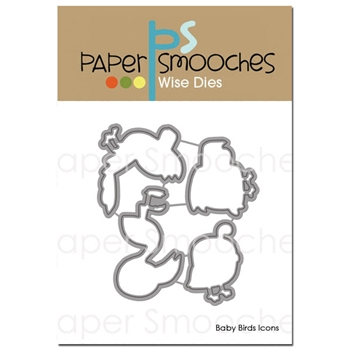 Paper Smooches BABY BIRDS ICONS Wise Dies NOD414