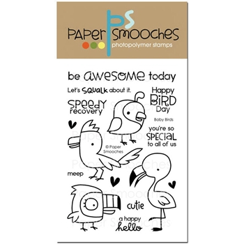 Paper Smooches BABY BIRDS Clear Stamps NOS297