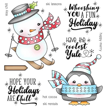 Darcie's CHILL HOLIDAYS Clear Stamp Set pol370